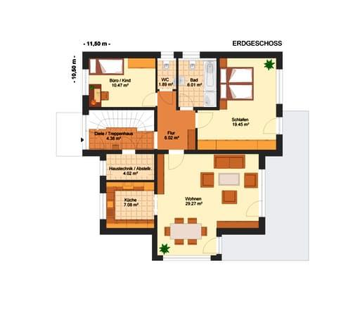 Fortuna 180 (Zweifam.-haus) floor_plans 1