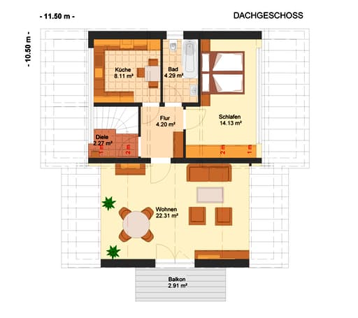 Fortuna 283 (Dreifamilienhaus) floor_plans 1