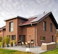Frei geplantes Kundenhaus mit Klinkerfassade