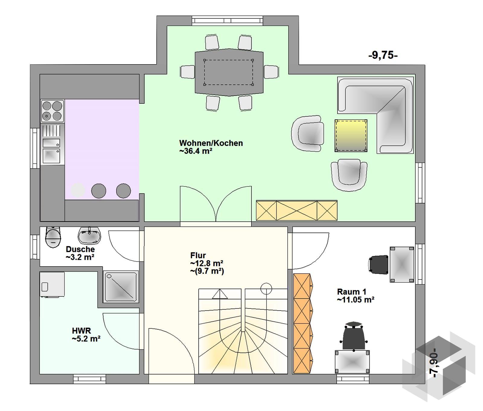 fuges inactive von hagemann haus komplette. Black Bedroom Furniture Sets. Home Design Ideas