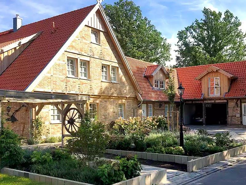 Fachwerkhaus mit Klinkerfassade von der Fuhrberger Zimmerei