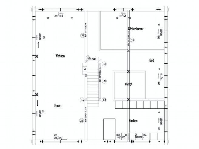 Entlebuch von Fullwood Wohnblockhaus Grundriss 1