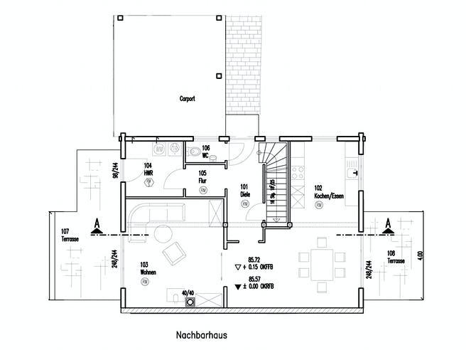 Im Eichenhain von Fullwood Wohnblockhaus Grundriss 1