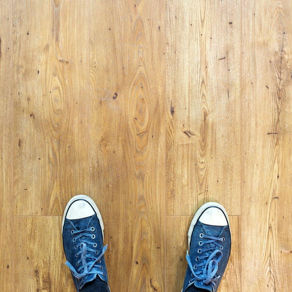 Gedämmter Holzfußboden
