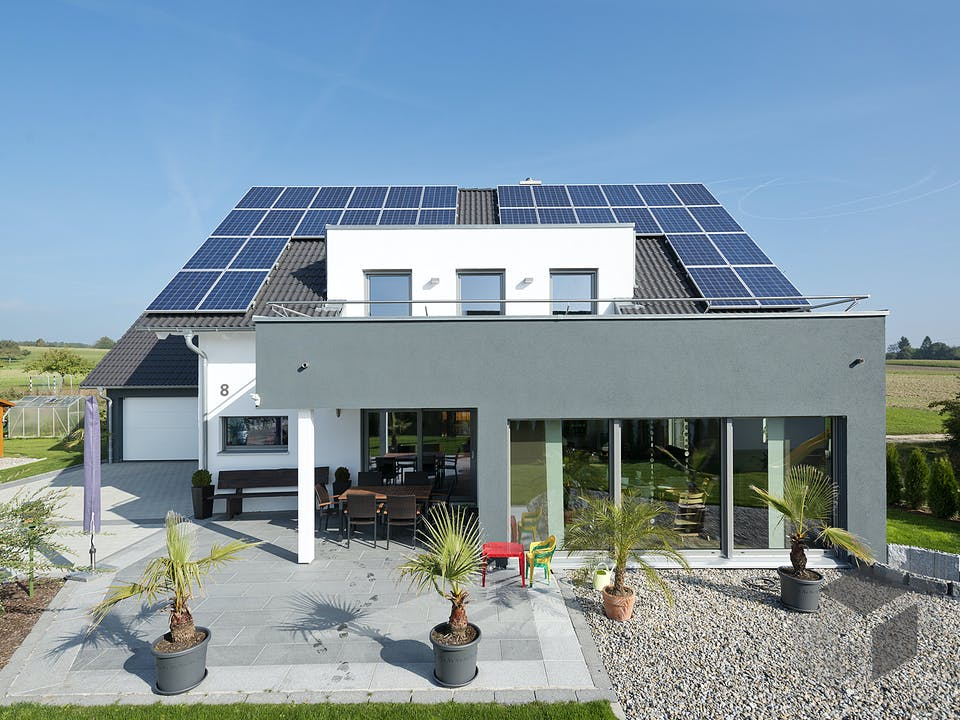 SD 190-144 - Modernes Architektenhaus von Gapp Holzbau Außenansicht