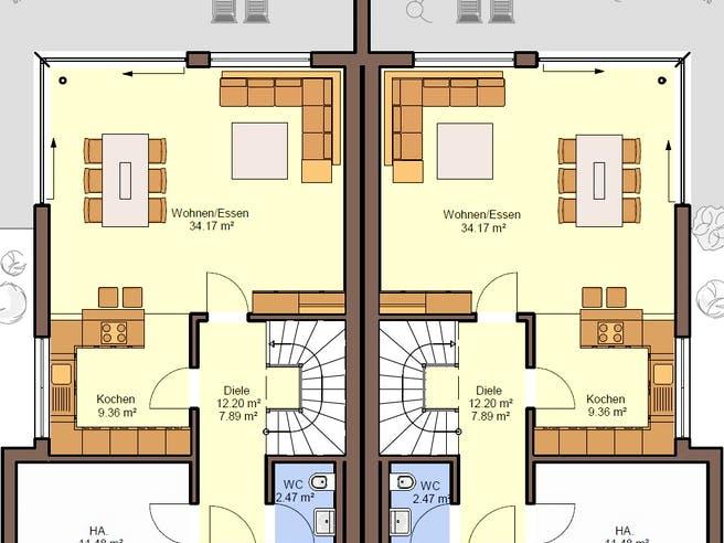 Gemello FD 280 von Büdenbender Hausbau Grundriss 1