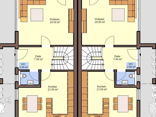 Gemello PD 236 von Büdenbender Hausbau Grundriss 1