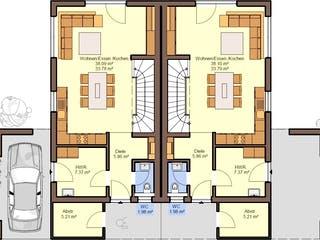 Gemello SD 136 von Büdenbender Hausbau Grundriss 1