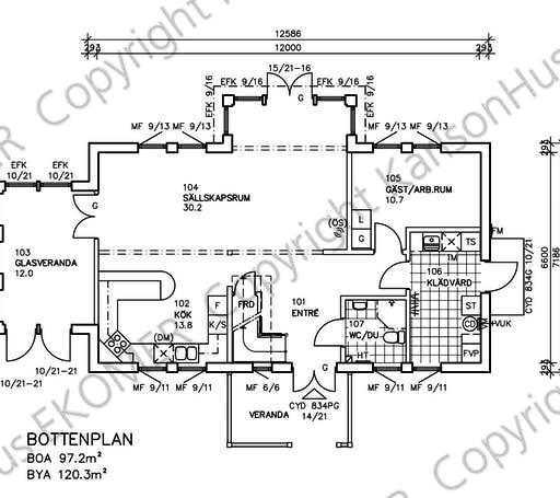 Glasmästarevillan Floorplan 1