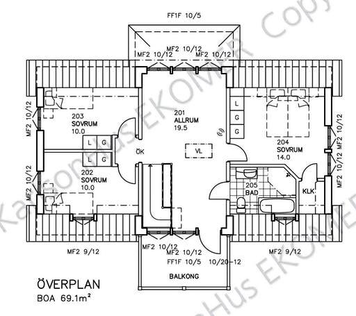 Glasmästarevillan Floorplan 2