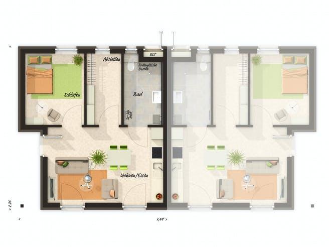 Glückswelthaus Duo Floorplan 1