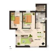 Glückswelthaus Bungalow 61 Grundriss