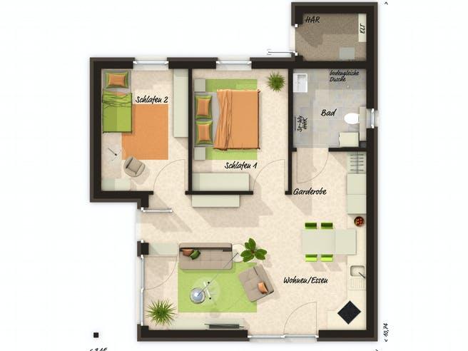 Glückswelthaus 61 Floorplan 1