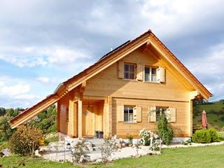 Gomadingen von Rems-Murr-Holzhaus Außenansicht 1