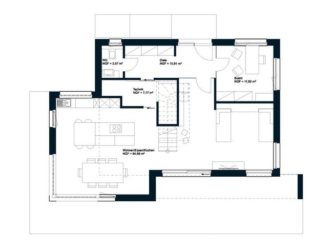 Griffner Box Wien Flachdach Floorplan 1
