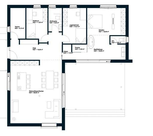 Griffner Bungalow Wien Floorplan 1