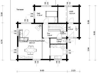 Görwihl von Rems-Murr-Holzhaus Grundriss 1