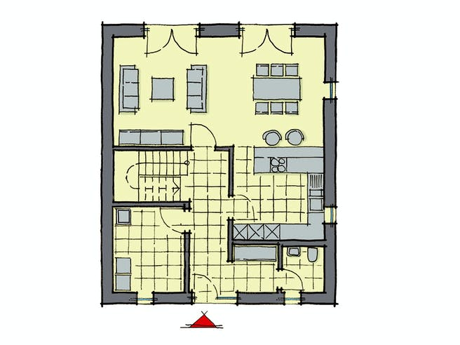 Gussek Brooklyn Floorplan 1
