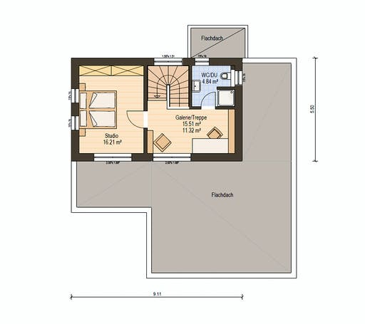 Haas Fertigbau - BS 129 A Floorplan 2