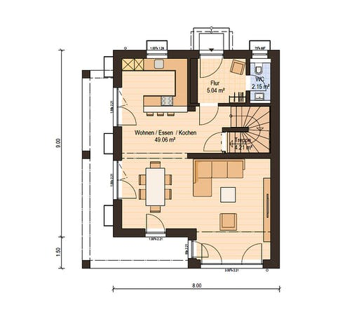 Haas Fertigbau - D 110 A Floorplan 1