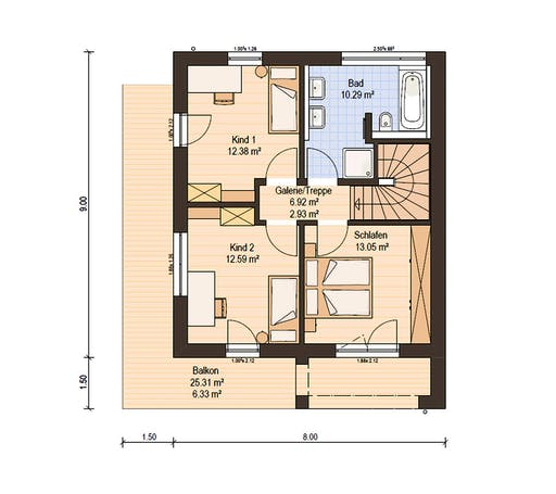 Haas Fertigbau - D 110 A Floorplan 2