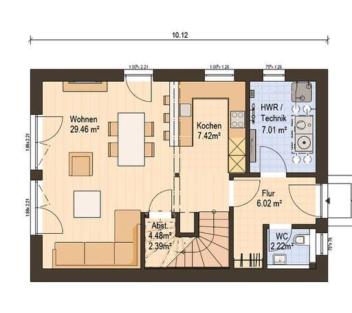 Haas Fertigbau  -  D 112 A Floorplan 1