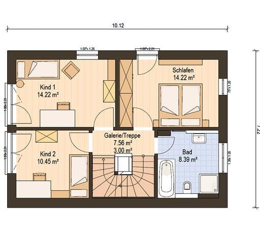 Haas Fertigbau  -  D 112 A Floorplan 2