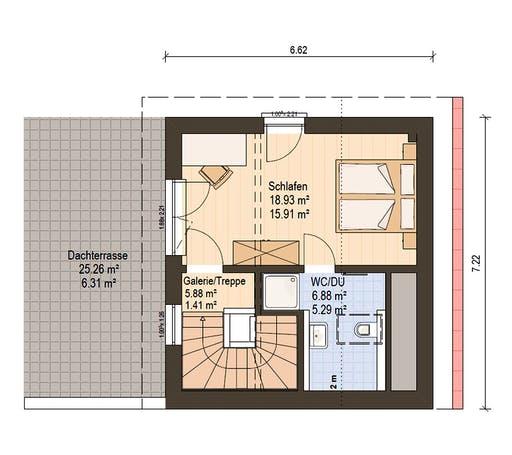 Haas Fertigbau  -  D 112 A Floorplan 3