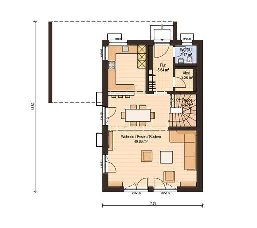 Haas Fertigbau - D 128 B Floorplan 1