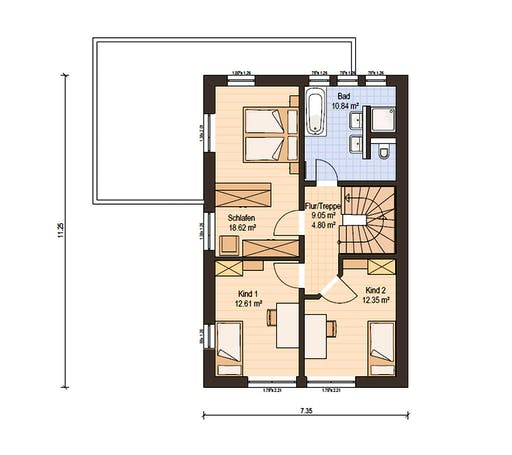 Haas Fertigbau - D 128 B Floorplan 2