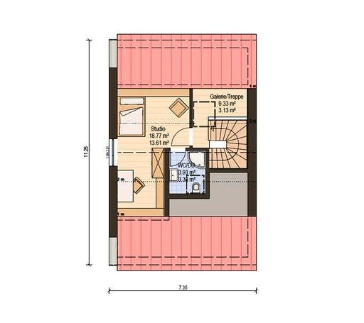 Haas Fertigbau - D 128 B Floorplan 3
