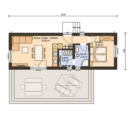 Haas Fertiigbau . FH 43 Floorplan 1