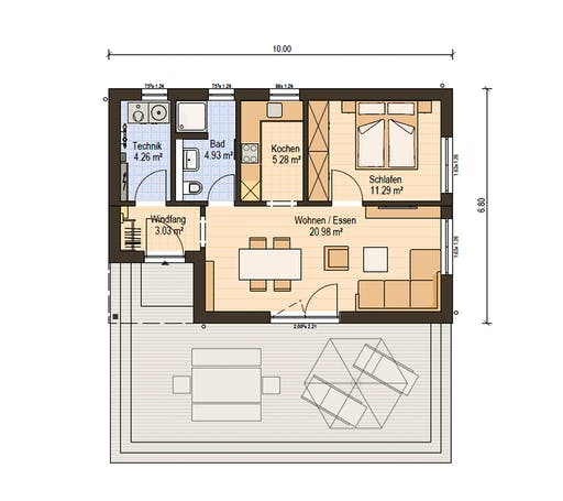 Haas Fertiigbau . FH 50 Floorplan 1