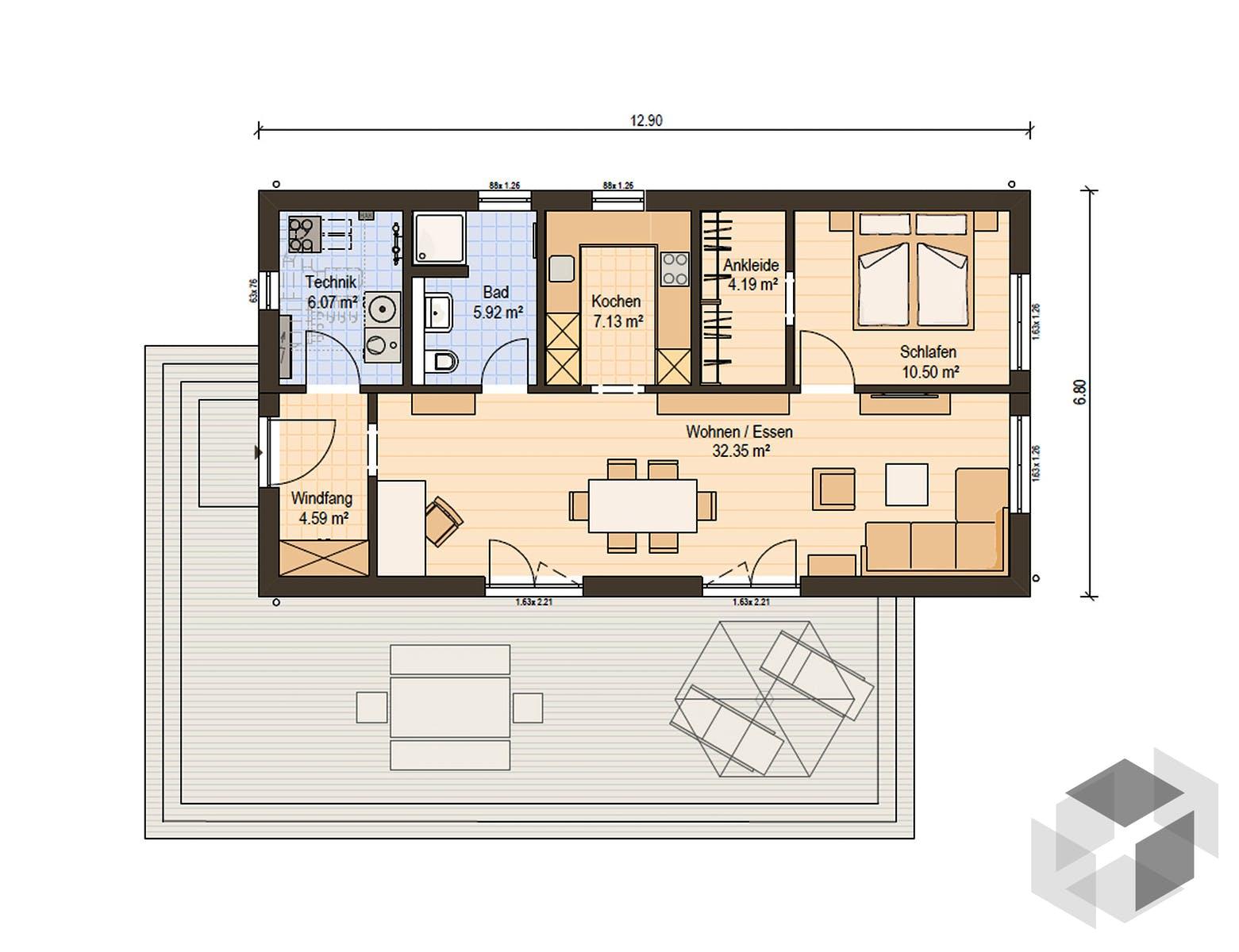 Haus grundriss single Singlehaus