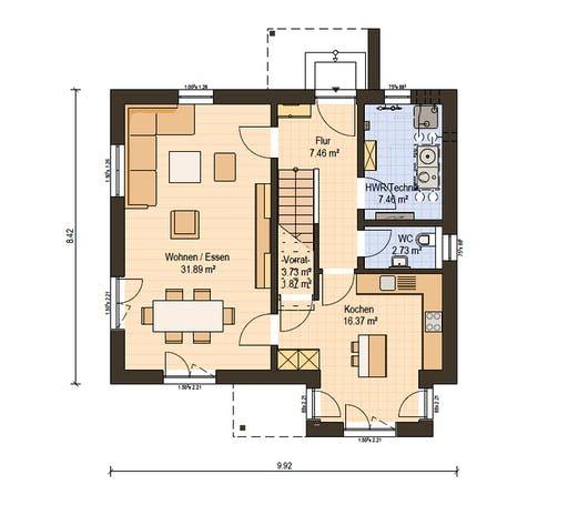 Haas Fertigbau - O 130 A Floorplan 1