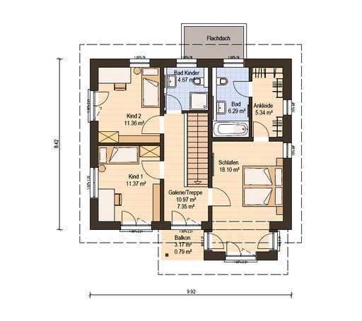 Haas Fertigbau - O 130 A Floorplan 2