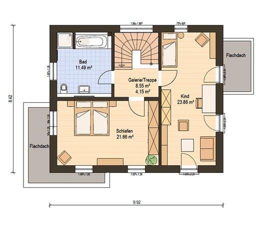 Haas Fertigbau - S 130 D Floorplan 2