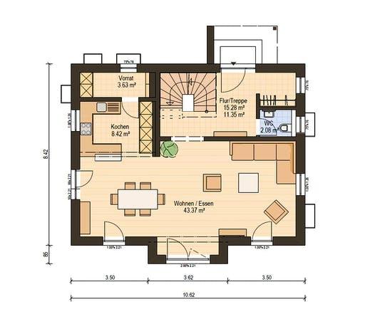 Haas Fertigbau - S 140 A Floorplan 1