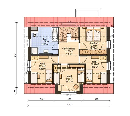 Haas Fertigbau - S 140 A Floorplan 2