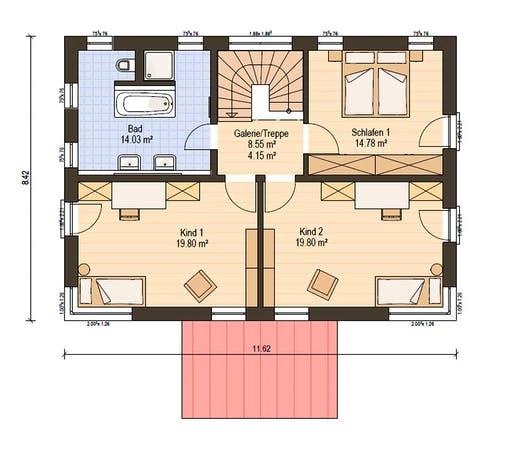 Haas Fertigbau - S 154 A Floorplan 2