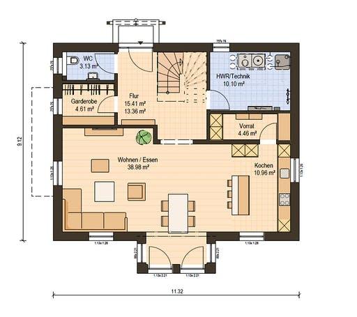 Haas Fertigbau - S 165 A Floorplan 1