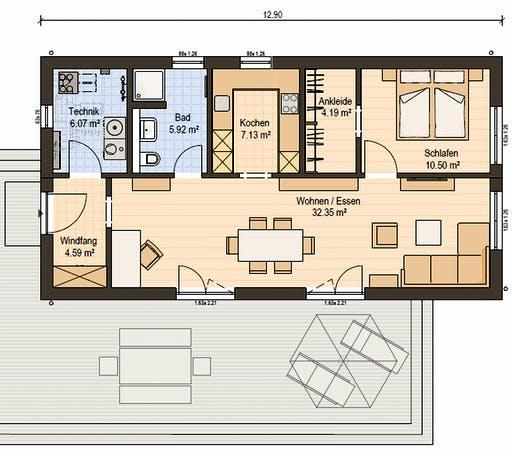 Haas FH 75 A Floorplan 1