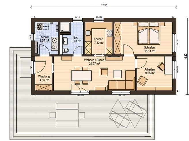 Haas FH 75 B Floorplan 1