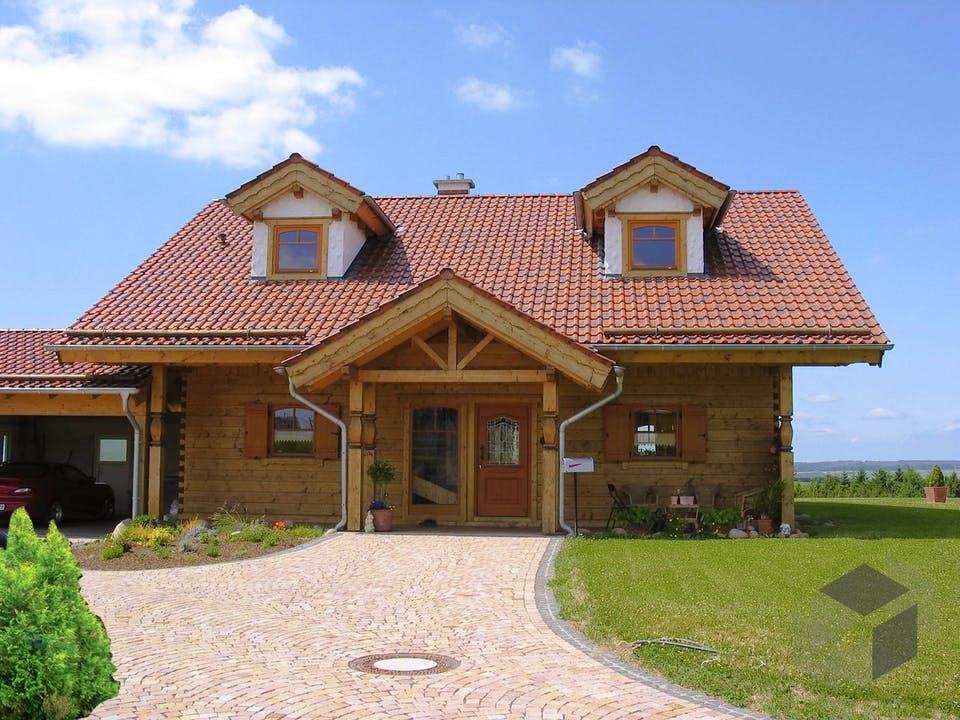 Habach von Tirolia Blockhaus Außenansicht