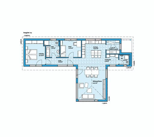 Hanse - Bungalow 104 Floorplan 1
