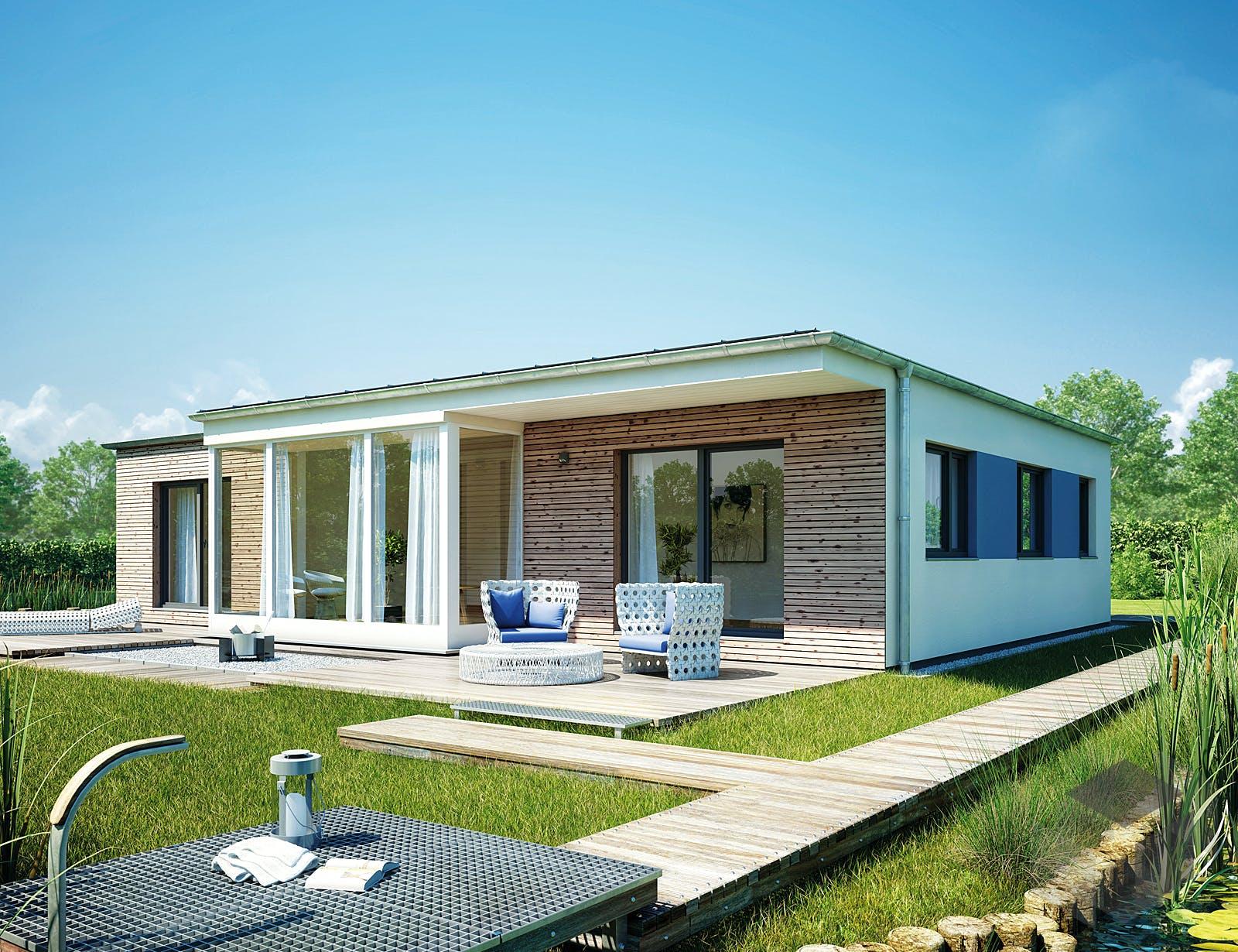 bungalow 122 von hanse haus. Black Bedroom Furniture Sets. Home Design Ideas