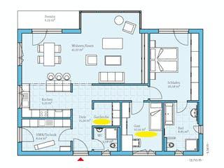 Bungalow 122 von Hanse Haus Grundriss 1