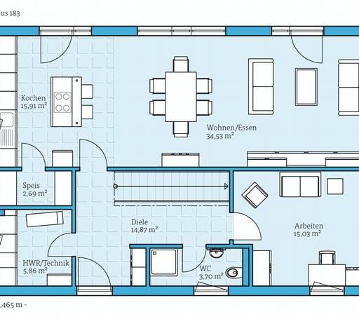 Hanse - Cubus 183 Floorplan 1