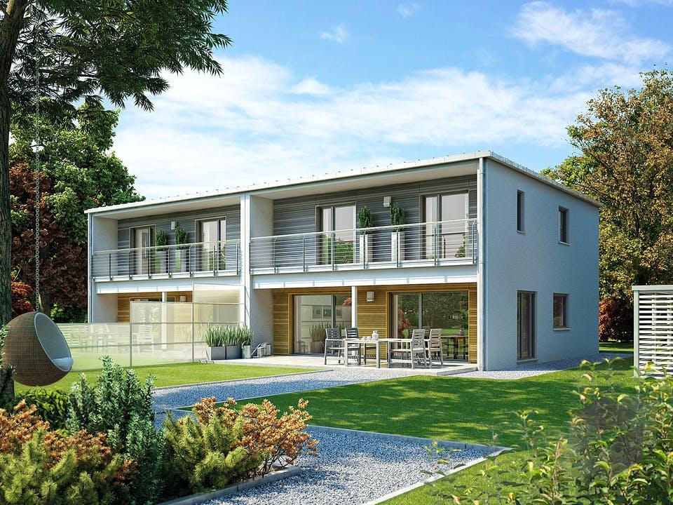 Doppelhaus 131 von Hanse Haus Außenansicht