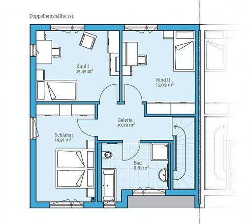 doppelhaus 131 von hanse haus komplette daten bersicht. Black Bedroom Furniture Sets. Home Design Ideas